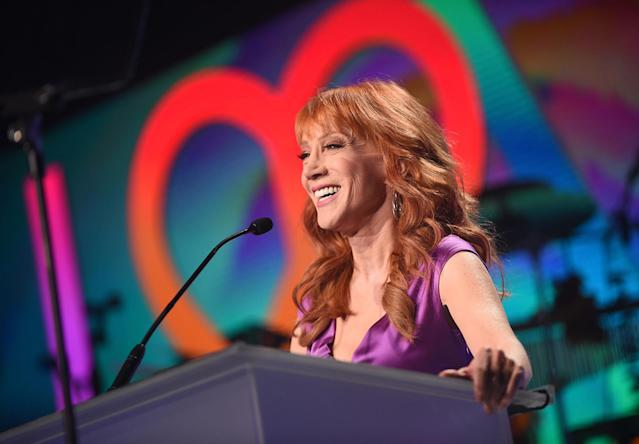 "<p>Kathy Griffin ticks so many boxes for a <em>Celebrity Big Brother</em> houseguest. She's a self-confessed superfan who <a href=""https://www.youtube.com/watch?v=VKnZAnCvdGc"" rel=""nofollow noopener"" target=""_blank"" data-ylk=""slk:has appeared on the show"" class=""link rapid-noclick-resp"">has appeared on the show</a> before. She has reality TV experience (she won <em>Celebrity Mole</em> back in 2003), and she's <a href=""https://www.yahoo.com/tv/kathy-griffin-trump-images-im-no-longer-sorry-whole-outrage-b-s-211553524.html"" data-ylk=""slk:currently surrounded in controversy"" class=""link rapid-noclick-resp"">currently surrounded in controversy</a>, so that's an automatic ratings winner for CBS. Big Brother could be a great comeback story for the controversial comedian.<br><br> (Photo by Emma McIntyre/Getty Images for Race To Erase MS) </p>"
