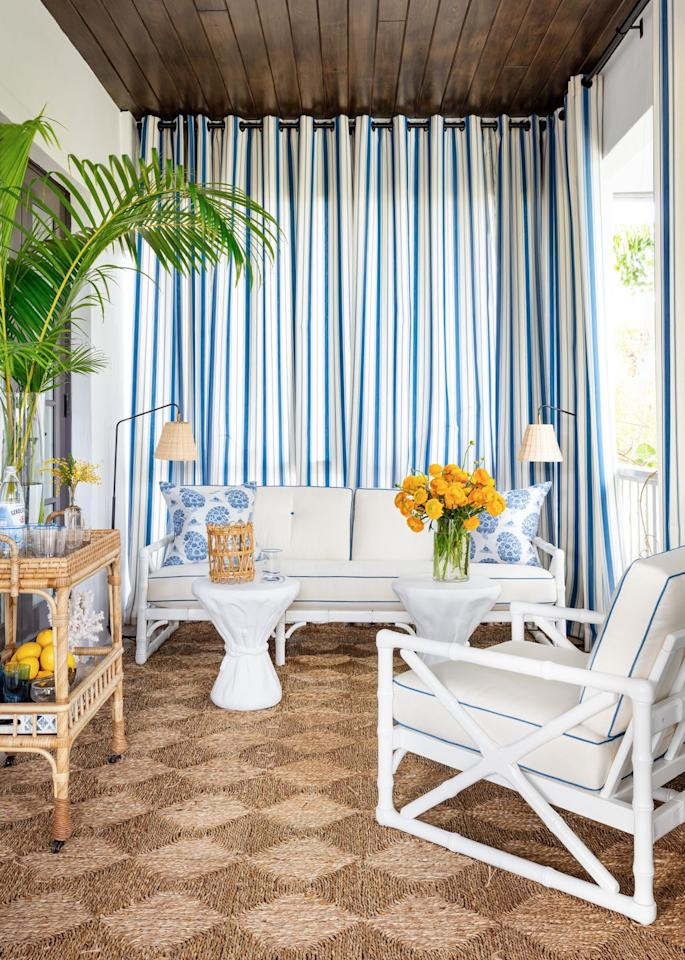 """<p>Designer <a href=""""https://branca.com/"""" target=""""_blank"""">Alessandra Branca</a> brings a touch of refined sleekness to the master bedroom balcony of the 2020 Kips Bay Decorator Show House with a pair of Flynn Floor Lamps by Serena & Lily.</p><p><a class=""""body-btn-link"""" href=""""https://go.redirectingat.com?id=74968X1596630&url=https%3A%2F%2Fwww.serenaandlily.com%2Fflynn-floor-lamp%2Fm11588.html&sref=https%3A%2F%2Fwww.veranda.com%2Fhome-decorators%2Fg30780929%2Funique-lighting-ideas%2F"""" target=""""_blank"""">Shop Now</a></p>"""