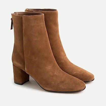 """<br><br><strong>J.Crew</strong> Suede Ankle Boots, $, available at <a href=""""https://go.skimresources.com/?id=30283X879131&url=https%3A%2F%2Fwww.jcrew.com%2Fp%2Fwomens_category%2Fshoes%2Fboots%2Fsuede-ankle-boots%2FAQ760"""" rel=""""nofollow noopener"""" target=""""_blank"""" data-ylk=""""slk:J.Crew"""" class=""""link rapid-noclick-resp"""">J.Crew</a>"""