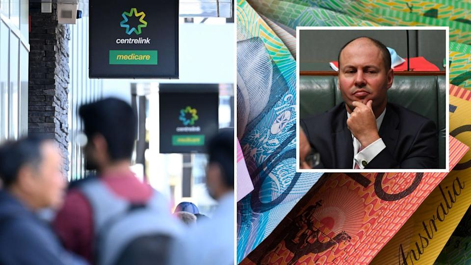 Josh Frydenberg will make an announcement on the new JobSeeker rate. Images: Getty