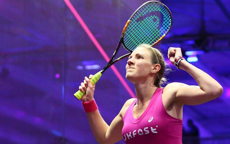 Laura Massaro celebrates winning in Dubai last year - Credit: Getty Images