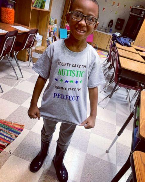 PHOTO: Antonio Gaylord, 6, poses in his classroom at school. Antonio can now interact with other kids and is in a general education classroom. (Kanesha Burch)