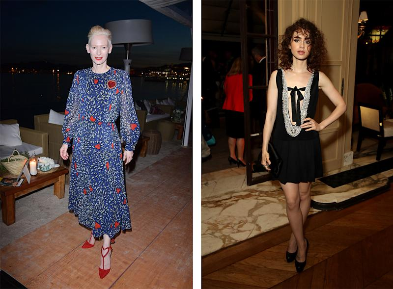 Tilda Swinton and Lily Collns. (Photo: Getty Images)