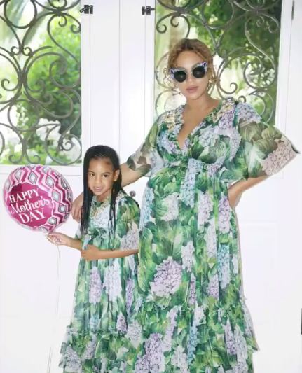 "<p>Beyoncé's pregnancy wardrobe cost someone a small fortune. (We're sure she got most of it for free.) This Dolce & Gabbana dress, which she wore on Mother's Day to the Museum of Ice Cream, cost $5,000. You think that's a lot? Well, know that she got a matching one for Blue. (Photo: <a href=""https://www.instagram.com/p/BUSx-sfgAjf/?taken-by=beyonce&hl=en"" rel=""nofollow noopener"" target=""_blank"" data-ylk=""slk:Beyoncé via Instagram"" class=""link rapid-noclick-resp"">Beyoncé via Instagram</a>) </p>"