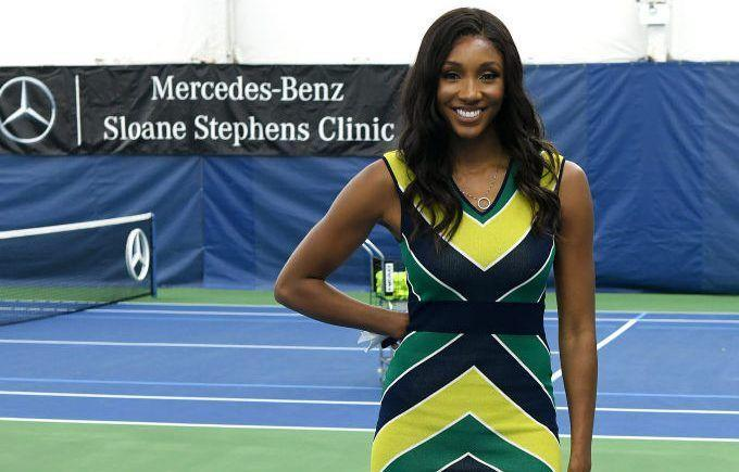 Sloane Stephens Hosts Private Tennis Clinic With Mercedes-Benz