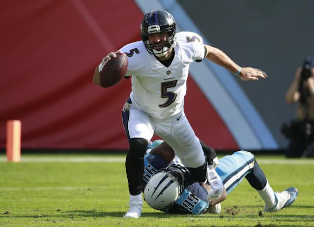 The Ravens and the Titans are in a battle for mediocrity. (AP)