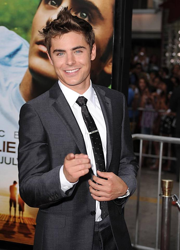 "Making the ladies swoon at the age of 23, a handsome, impressively-coiffed Efron hit the red carpet on July 20, 2010, for the premiere of his film, ""Charlie St. Cloud."" Steve Granitz/<a href=""http://www.wireimage.com"" target=""new"">WireImage.com</a> - July 20, 2010"