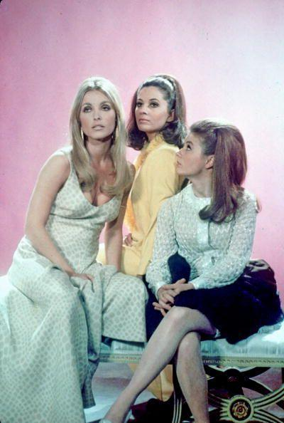<p>In one of Sharon Tate's most memorable roles, the actress played sex symbol Jennifer North in <em>Valley of the Dolls</em>. She wore mostly nightgowns throughout the film, but the mint-hued printed maxi dress she wore for the film's promotional photo shoot is a standout look. </p>