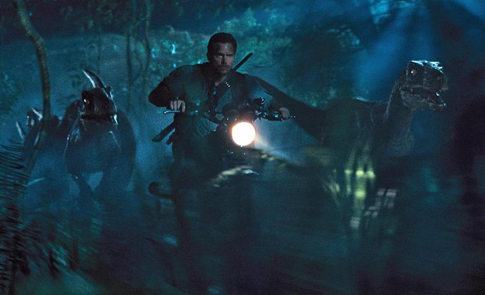 """<p>What do <i>Jurassic World </i>(pictured)<i>, Furious 7,</i> and <i>Minions</i> have in common? All three made over $1 billion this year, setting <a href=""""http://variety.com/2015/film/news/minions-billion-worldwide-box-office-1201580727/"""" rel=""""nofollow noopener"""" target=""""_blank"""" data-ylk=""""slk:a record winning streak"""" class=""""link rapid-noclick-resp"""">a record winning streak</a> for their studio, Universal Pictures. Factor in <i>Fifty Shades of Grey, Pitch Perfect 2,</i> and <i>Straight Outta Compton, </i>and it's clear how Universal achieved <a href=""""http://deadline.com/2015/08/universal-pictures-highest-grossing-box-office-year-in-industry-history-1201492365/"""" rel=""""nofollow noopener"""" target=""""_blank"""" data-ylk=""""slk:the highest-grossing year ever"""" class=""""link rapid-noclick-resp"""">the highest-grossing year ever</a> for a single studio (even with serious competition from Disney's <i>Avenger</i>s/<i>Star Wars/</i>Pixar juggernaut). (Photo: Universal)</p>"""