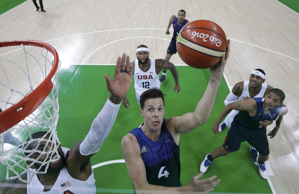 Thomas Heurtel nearly had a triple-double in France's narrow loss to Team USA. (Reuters)