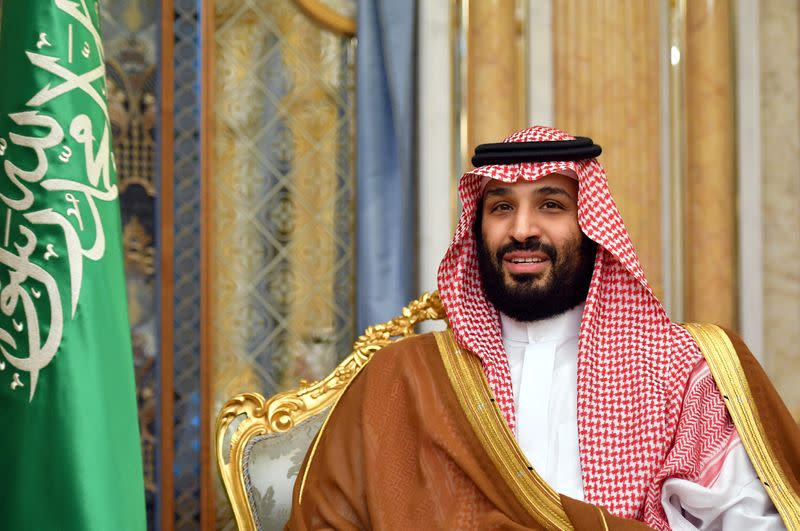 FILE PHOTO: Saudi Arabia's Crown Prince Mohammed bin Salman attends a meeting with U.S. Secretary of State Mike Pompeo in Jeddah