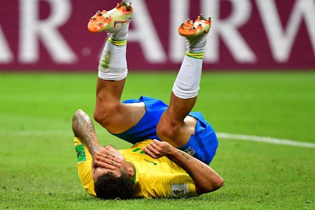 Neymar became an internet joke for his diving at last year's World Cup (AFP Photo/Luis Acosta)