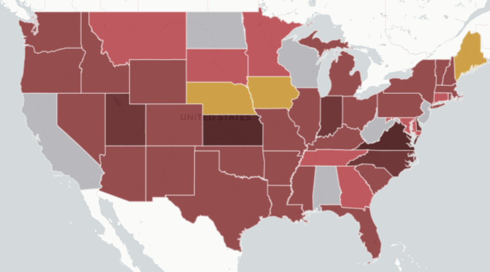 """There are <a href=""""https://www.edweek.org/ew/section/multimedia/map-coronavirus-and-school-closures.html"""" rel=""""nofollow noopener"""" target=""""_blank"""" data-ylk=""""slk:55 million U.S. students"""" class=""""link rapid-noclick-resp"""">55 million U.S. students</a> staying home as state and local governments attempt to stem the outbreak of COVID-19, according to data compiled by Education Week. (Source: Education Week)"""