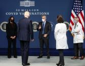 U.S. President Biden participates in an event on state of U.S. coronavirus vaccinations at the White House in Washington