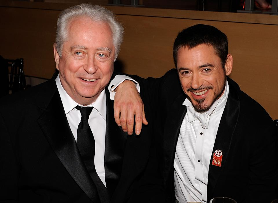 NEW YORK - MAY 08:  Director Robert Downey Sr. and actor Robert Downey Jr. attend Time's 100 Most Influential People in the World gala at Jazz at Lincoln Center on May 8, 2008 in New York City.  (Photo by Larry Busacca/WireImage)