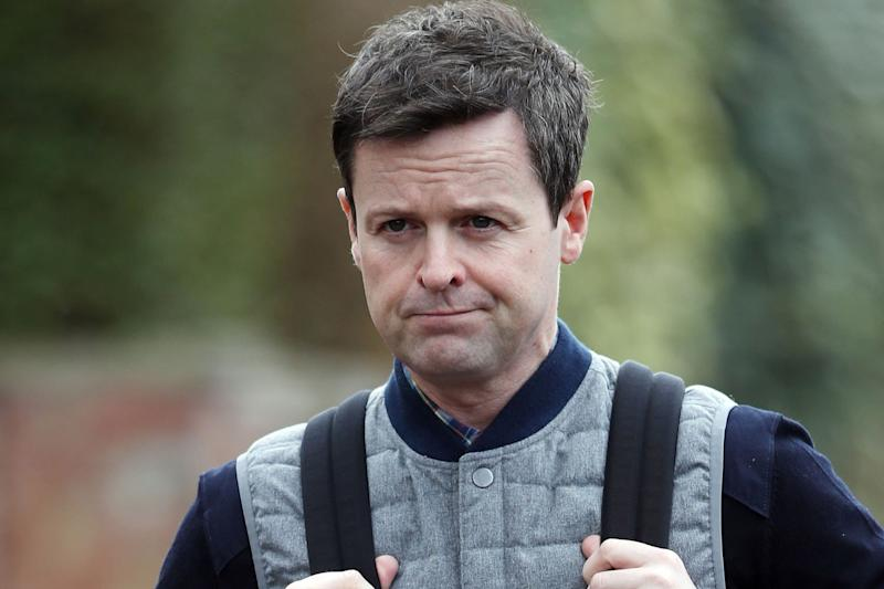 Dec pictured today for the first time after Ant's arrest on suspicion of drink driving: Alex Huckle / Flynet - Splash News