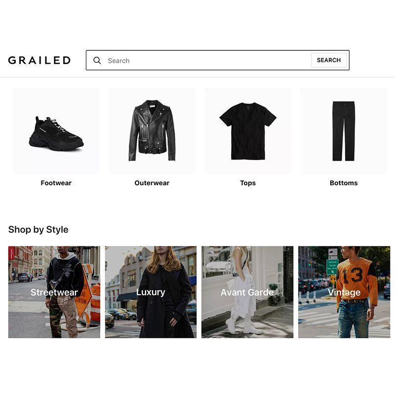 """<p>Grailed remains one of the best sites to try if you're struggling to track down any hard-to-find rare garms, but the resale platform also stocks an enviable selection of more approachable heat, courtesy of a prolific user base that's as clothing-obsessed as you'd imagine. <br></p><p><a class=""""link rapid-noclick-resp"""" href=""""https://www.grailed.com/"""" rel=""""nofollow noopener"""" target=""""_blank"""" data-ylk=""""slk:SHOP"""">SHOP</a> <em><a href=""""https://www.grailed.com/"""" rel=""""nofollow noopener"""" target=""""_blank"""" data-ylk=""""slk:grailed.com"""" class=""""link rapid-noclick-resp"""">grailed.com</a></em></p>"""