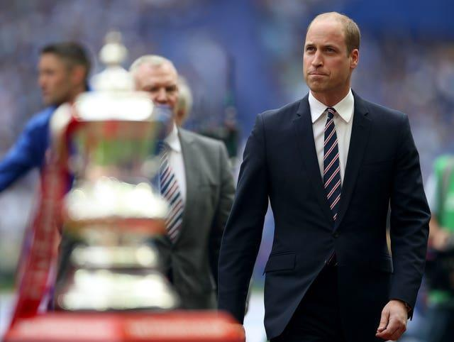 Prince William is set to present the FA Cup to the winners of this weekend's final (Nick Potts/PA)