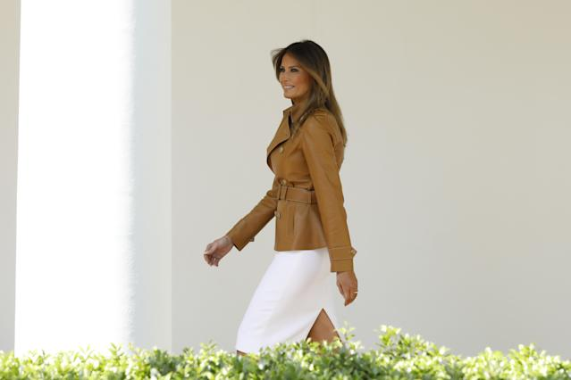 Melania Trump launched her official campaign as the first lady, to much criticism. (Photo: Getty Images)