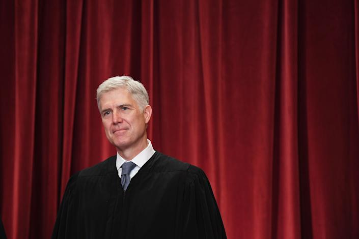 Justice Neil Gorsuch, a conservative jurist, was confirmed to the Supreme Court without facing any allegations of sexual impropriety in 2017. (Photo: The Washington Post / Getty Images)
