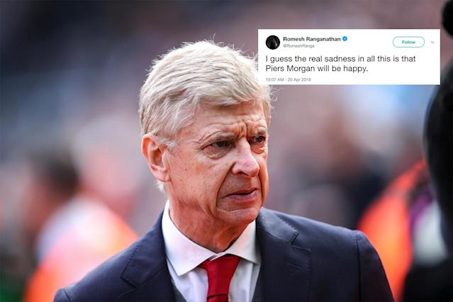 Arsene Wenger will leave Arsenal after 22 years, and social media has had its say