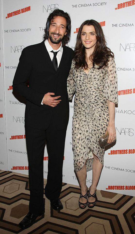 """<a href=""""http://movies.yahoo.com/movie/contributor/1800018941"""">Adrien Brody</a> and <a href=""""http://movies.yahoo.com/movie/contributor/1800019614"""">Rachel Weisz</a> at the New York screening of <a href=""""http://movies.yahoo.com/movie/1809843292/info"""">The Brothers Bloom</a> - 05/07/2009"""
