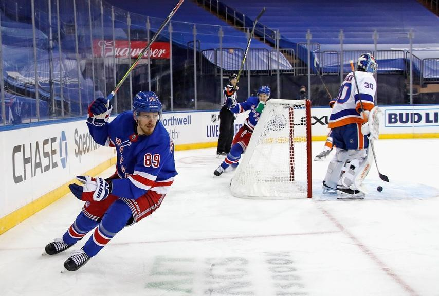 Pavel Buchnevich scores for Rangers vs Islanders