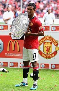 Nani scored two goals in the Community Shield final, including the game winner in injury time