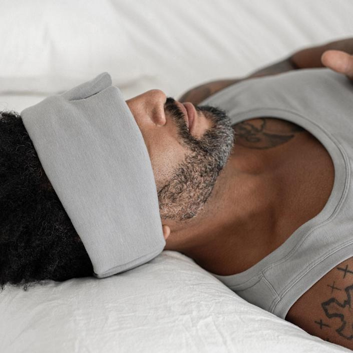 """What could be better than the gift of uninterrupted sleep? Lahgo's <a href=""""https://www.glamour.com/gallery/best-sleep-mask?mbid=synd_yahoo_rss"""" rel=""""nofollow noopener"""" target=""""_blank"""" data-ylk=""""slk:sleep mask"""" class=""""link rapid-noclick-resp"""">sleep mask</a> is wide enough to block out any annoying light source—from open curtains to the TV that Mom forgot to turn off. $48, Lahgo. <a href=""""https://lahgo.co/collections/accessories/products/restore-sleep-mask?variant=31740465774697"""" rel=""""nofollow noopener"""" target=""""_blank"""" data-ylk=""""slk:Get it now!"""" class=""""link rapid-noclick-resp"""">Get it now!</a>"""