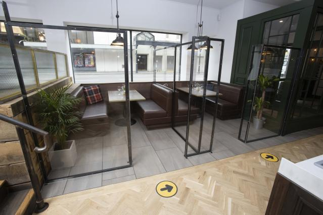 The owners have set up pods. (PA Images)
