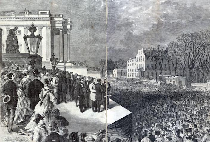 The inauguration of Ulysses S. Grant