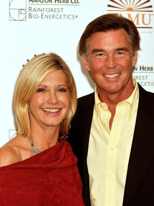 Olivia Newton-John with her husband John Easterling