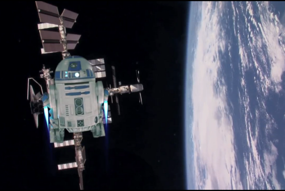 May the Fourth Be With You! R2-D2 Helps NASA Astronaut Celebrate 'Star Wars Day' (Video)