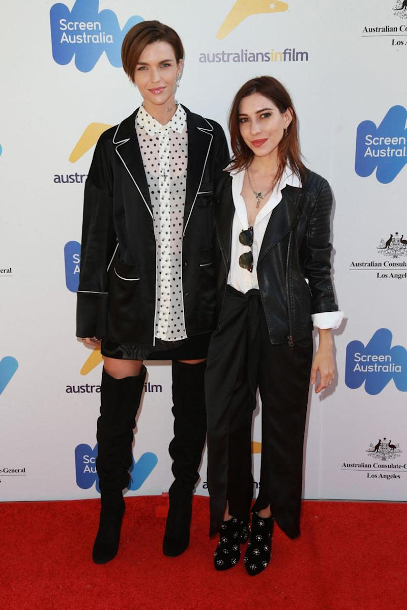 Ruby Rose has slammed her girlfriends twin sister over the 'Yes' vote. She is pictured here with Jessica Origliasso in September 2017. Source: Getty