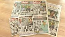 UK tabloids react to Harry and Meghan interview