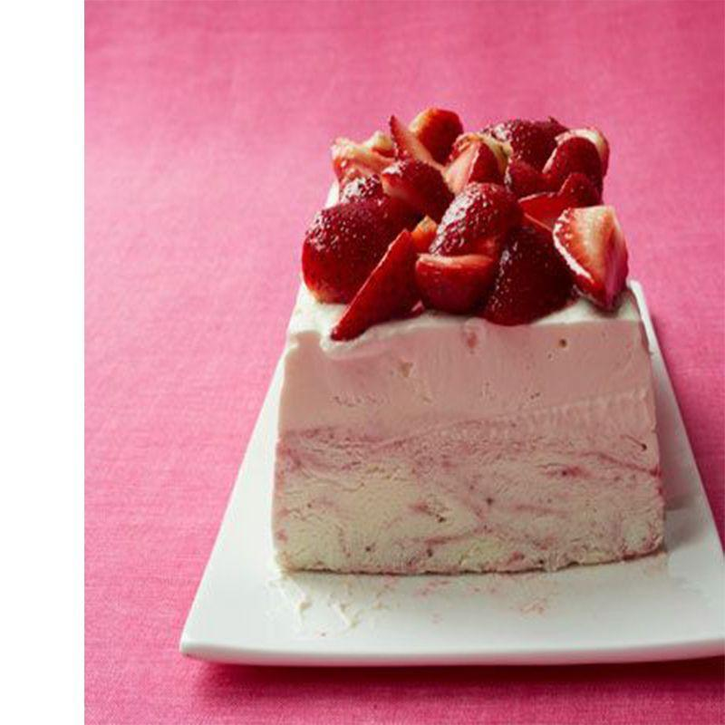 """<p>This no-bake ice cream cake is both delicious and refreshing.</p><p><a href=""""https://www.womansday.com/food-recipes/food-drinks/recipes/a11347/strawberry-ice-cream-cheesecake-recipe-wdy0812/"""" rel=""""nofollow noopener"""" target=""""_blank"""" data-ylk=""""slk:Get the Strawberry Ice Cream Cheesecake recipe."""" class=""""link rapid-noclick-resp""""><em><strong>Get the Strawberry Ice Cream Cheesecake recipe.</strong></em></a></p>"""