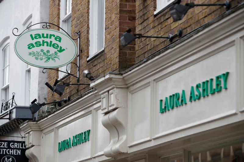 FILE PHOTO: A Laura Ashley store in Windsor is pictured after they filed for Administration while the number of coronavirus cases grow around the world