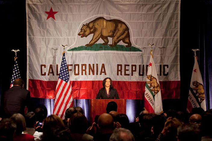 <p>In 2010, Harris was elected the Attorney General of California. Again, Harris blazed a trail as the first woman, the first African-American, and the first South Asian American to hold the title in California's history. </p>