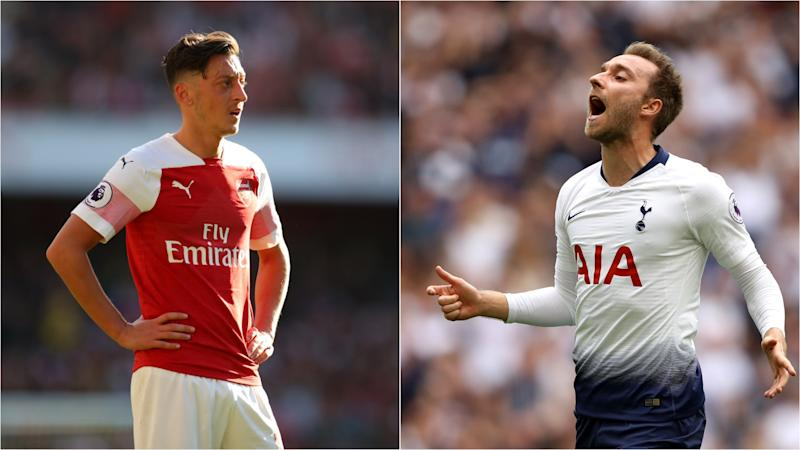Arsenal v Tottenham: Eriksen comparison highlights Ozil's shortcomings