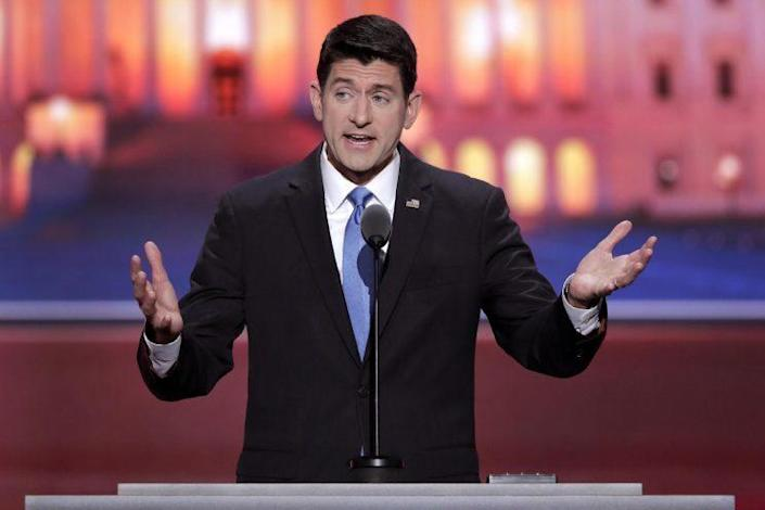 Paul Ryan of Wisconsin on the second day of the Republican National Convention, July 19, 2016. (Photo: J. Scott Applewhite/AP)