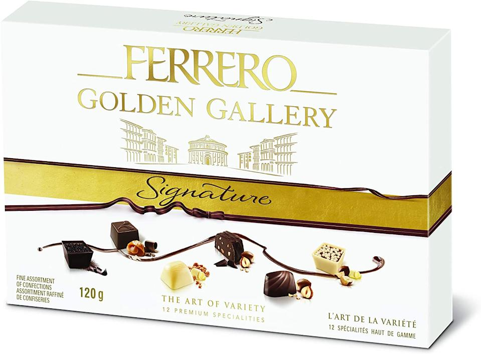 Ferrero Golden Gallery Signature Fine Assorted Chocolates. Image via Amazon.