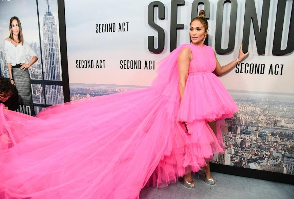 Jennifer Lopez attends the premiere of <em>Second Act</em> on Dec. 12, 2018, in New York City. (Photo: Daniel Zuchnik/FilmMagic)