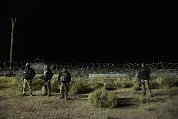 A group of people ready to 'Storm Area 51' were met by armed guards at the gate