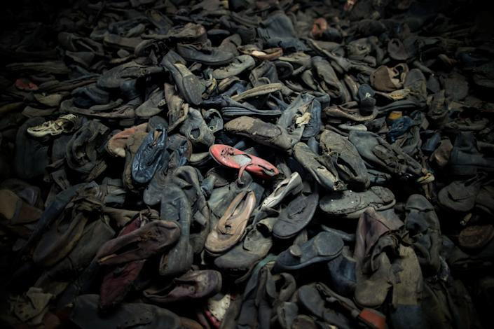 shoes of the victims of Aushwitz