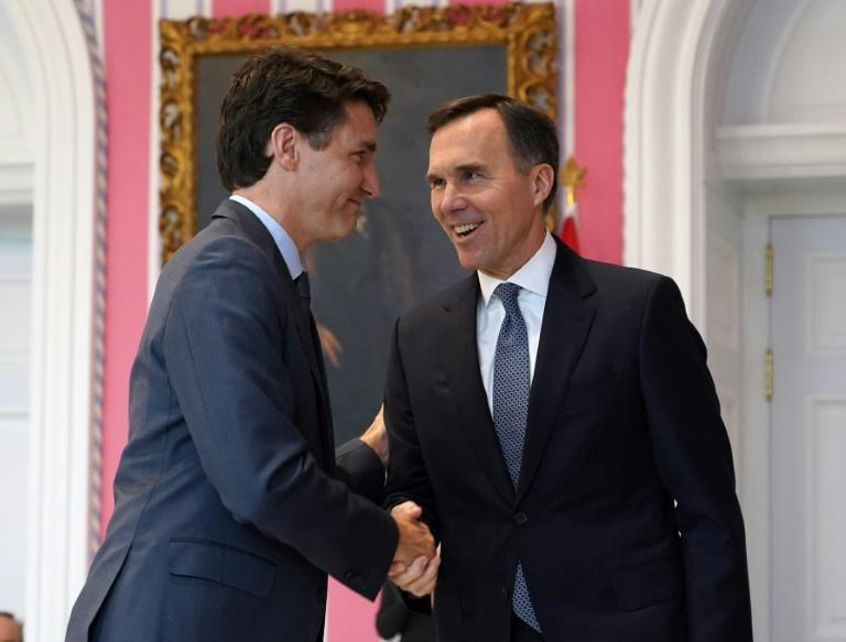 Candian Prime Minister Justin Trudeau and and Finance Minister Bill Morneau are seen in Ottawa in 2019