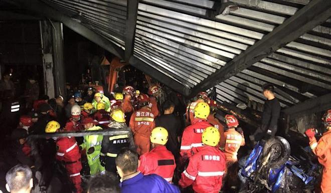 Nine people died and dozen injured, four of whom were in a critical condition. Photo: Weibo