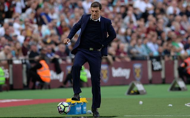 Slaven Bilic was relieved to see West Ham beat Swansea on Saturday - Rex Features