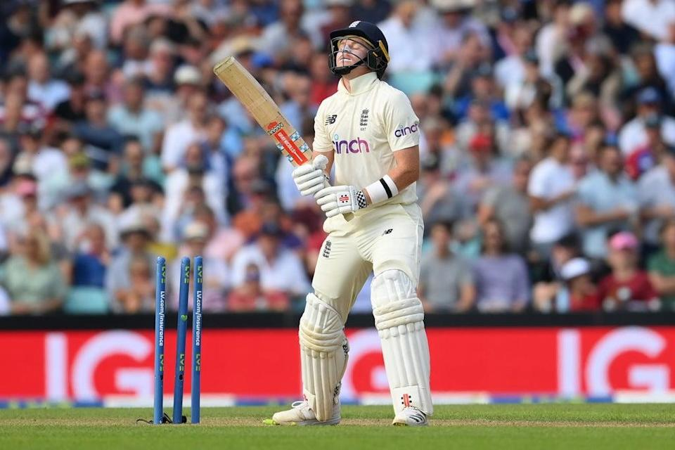 Pope reacts after being bowled for 81 by Shardul Thakur (Getty Images)