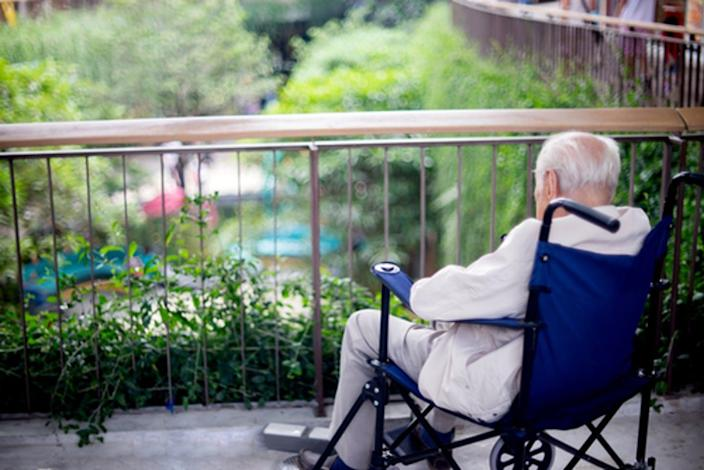 """<span class=""""caption"""">Lewy body dementia and other illnesses of aging brains cause immeasurable suffering for patients and their families. </span> <span class=""""attribution""""><a class=""""link rapid-noclick-resp"""" href=""""https://www.shutterstock.com/image-photo/old-man-sit-on-wheelchair-looking-456808060?src=WTjmgqceHn2lp15EIr-1mg-2-97"""" rel=""""nofollow noopener"""" target=""""_blank"""" data-ylk=""""slk:sabthai/Shutterstock.com"""">sabthai/Shutterstock.com</a></span>"""