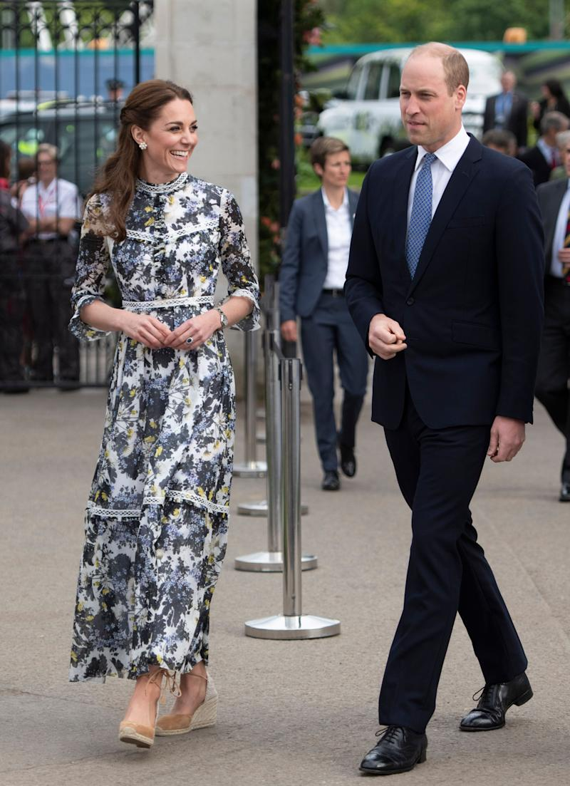 The Duke and Duchess of Cambridge at the RHS Chelsea Flower Show 2019 on May 20 in London. (Photo: WPA Pool via Getty Images)